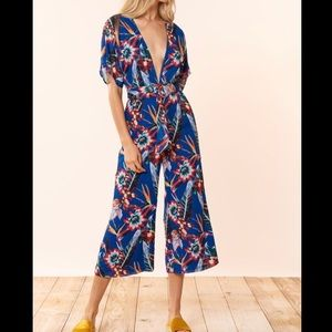 Red Carter Vivian Jumpsuit in Paradise Size M NWT